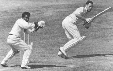 Wicketkeeper Kanhai, 1957
