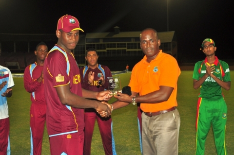 ODI 1: Lugg Receives MoM Award, 2013