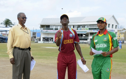 Toss For Under-19 ODI 4, 2013