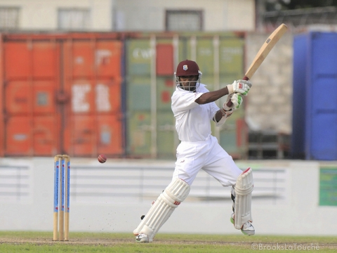 Permaul Batting For WI A v Ind A 1, 2012