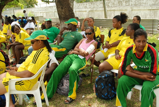 Guyana Women Wait Turn, 2012