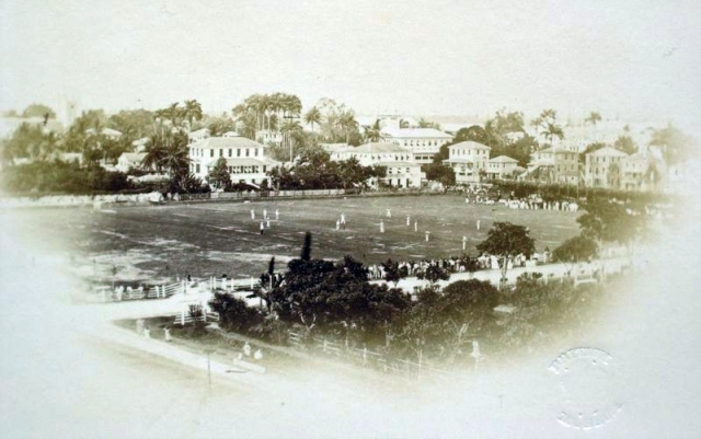 Match at Parade Ground, 1866